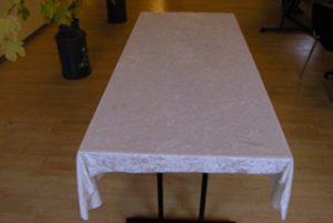 Aflangt bord 6 pers. 180x81 cm